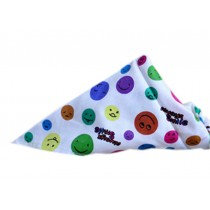 2 Pieces of Fashionable Cute Pets Triangle Scarves/Headscarf, Round