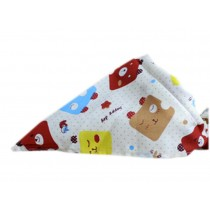 2 Pieces of Fashionable Cute Pets Triangle Scarves/Headscarf, Expression