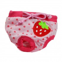 Strawberry Fresh Design Dogs Physical Pants Pets Underwear for Puppy, S