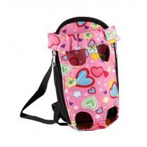 Portable Travel Front Backpack Carrier Bag For Pets PINK (Suitable for 2-4kg)