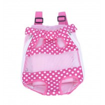 Cute Portable Front Backpack Carrier Bag For Pets PINK A (Suitable for 2.5-4kg)