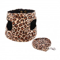 Puppy Harness Supplies Leopard Printing Pets Accessories Leash Collar Large