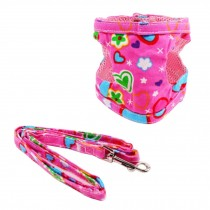 Dogs Accessories Leash Collar Pets Harness Supplies for Puppy (Pink Heart Style)