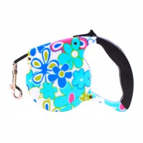 5m Long Flower Printing Pets Harness Supplies Universal Retracted Leash Collar