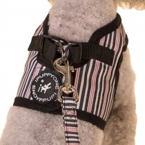 Vest Leashes - Dog Harness Leash--??L Size: Bust 46cm??Black Bars 1