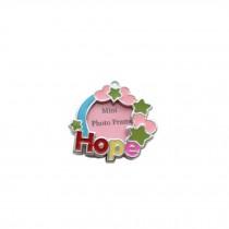 [HOPE] Colored Heart  Decorated Mini Photo Frame Style Dog ID Tag Cat ID Tag