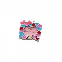 [Passion] Colored Heart Decorated Mini Photo Frame Style Dog ID Tag Cat ID Tag