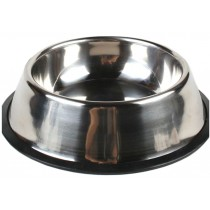 Stainless Steel Pet Bowl Dogs Cats Bowl Pet Supplies(10 * 2.5 Inches)