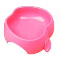 Apple Shaped Pet Bowl Dogs Bowl Pet Supplies RED(7.5 * 2 Inches)