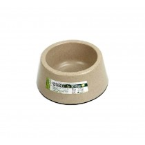 Bamboo Fiber Round Pet Bowl for Dogs Cats (15*12.5*6.5 cm)