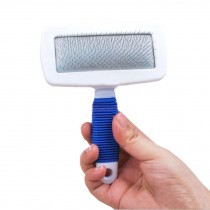 Non-slip handle Stainless Steel Soft Comb Pet Brush(Random Color)