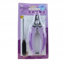 Pet Care--Easy Operation Professional Pet Nail Clipper Set,Violet