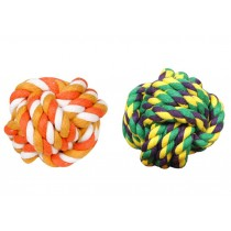 2 Pcs Fist Ball Dog Toy Knot Rope Ball Chew Dog Puppy Toy Pet Chew Toy B