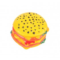 Creative Burger Durable Clean Teeth Chew Toy With Sound