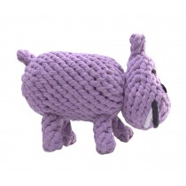 Knot Rope Ball Chew Dog Puppy Toy Pet Chew Toy Cute Hippo