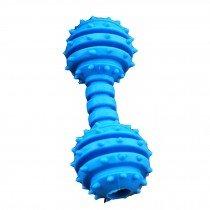 Pet Toys[Dumbbell]--Durable Clean Teeth Chew Toy/Dental Chew Pack,BLUE,4.7-inch