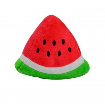 Set of 2 Creative Dog Clean Teeth Chew Toy With Sound, Watermelon Triangle