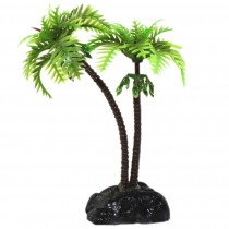 3 PCS Plastic Emulational Hawaii Coconut Tree Aquarium Ornament, 9CM Height
