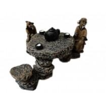 Resin The Old Man Stone Table Aquarium Ornament, 10x8x5.5cm
