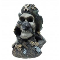 Pirate Captain Resin Aquarium Ornament, 12x10x10cm