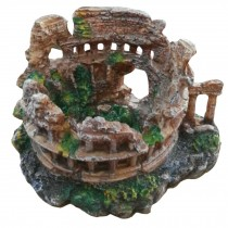 Roman Style Resin Aquarium Ornament, 22x18x13cm
