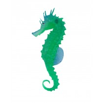 Set of 2 Creative Emulational Sea Horse Aquarium Ornament, Green