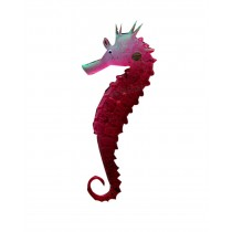 Set of 2 Creative Emulational Sea Horse Aquarium Ornament, Red