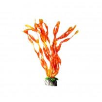 Emulational Fish Tank Plants Aquarium Decor Coral Decoration,Orange