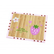 Natual Soft Pet Dog Bed Mat Bamboo Mat PINK Strawberry, 50*37.5cm
