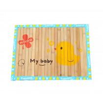 Natual Soft Pet Dog Bed Mat Bamboo Mat YELLOW Duck, 50*37.5cm