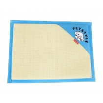 Natual Soft Pet Dog Bed Mat Double Sided Dual-use Straw Mat BLUE, 53*38cm