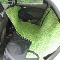Waterproof Pet Car Seat Cover Dog Travel Mat for Rear Seat, Green Cloud(Simple)