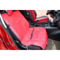 """Waterproof Solid Color Single Seat Dog Car Seat Cover RED (21""""Wx41""""L)"""