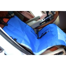 """Waterproof Solid Color Single Seat Dog Car Seat Cover BLUE (21""""Wx41""""L)"""