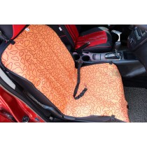 """[Orange Clouds]Waterproof Solid Color Single Seat Dog Car Seat Cover (21""""Wx41""""L)"""