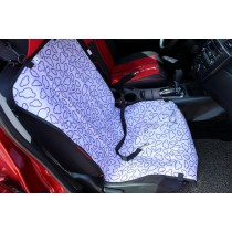 """[Purple Clouds]Waterproof Solid Color Single Seat Dog Car Seat Cover (21""""Wx41""""L)"""