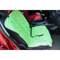 """[Green Clouds]Waterproof Solid Color Single Seat Dog Car Seat Cover (21""""Wx41""""L)"""