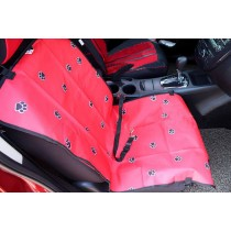 """Paw Print Waterproof Solid Color Single Seat Dog Car Seat Cover (21""""Wx41""""L)"""