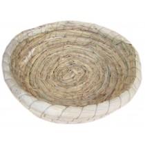 Natural Indoor Rabbit Hutch Straw Mattress Small Pet Hand Made Circular Sofa Bed