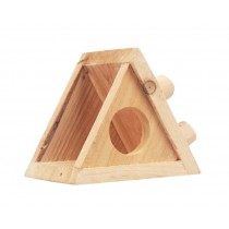 Small Pet Hamster Wooden House/Bedroom Accessories, Triangle