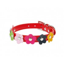 Lovely Adjustable PU Bow-ties Dog Collar Pet Collar RED (36-46cm)