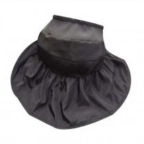 Women's Beachwear Sun Hat Black Hat Beautiful Wide Brim Cap Folding Straw Hat