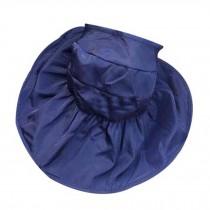 Beachwear Sun Hat for Women Beautiful Hat Foldable Floppy Wide Brim Hat Blue