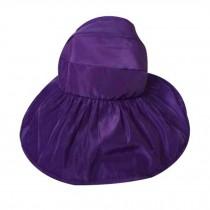 Women's Large Wide Brim Floppy Beach Hat Adjustable Summer Sun Hat Purple
