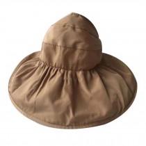 Women's Large Wide Brim Floppy Beach Hat Adjustable Sun Hat Sun Visor Cap Khaki
