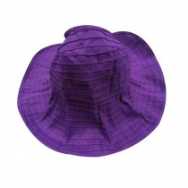 Women's Fashion Sun Visor Cap Summer Beach Cap Sun Hat For Travel Purple