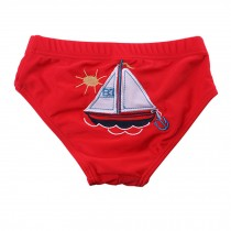 Baby Swim Trunks Cartoon Reusable Swim Diapers,Boat L