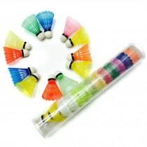 12 Counts Training Feather Nylon Shuttlecocks Badminton Ball Game,Multicolor